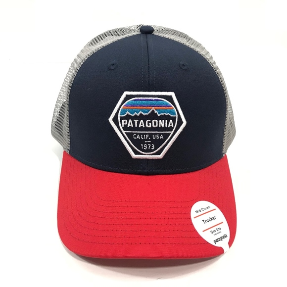 4a441f4414e Patagonia Mid Crown Fitz Roy Hexagon Trucker Hat